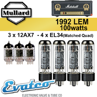 Mullard Marshall 1992LEM 100Watt Retube Kit