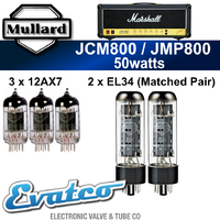 Mullard Marshall JMP or JCM800 50Watt Retube Kit
