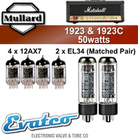 Mullard Marshall 1923 & 1923C 50Watt Retube Kit