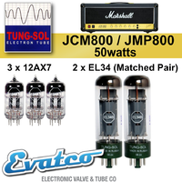 Tung-Sol Marshall JMP / JCM800 50Watt Retube Kit