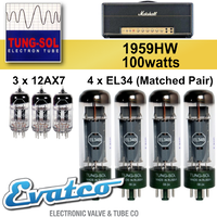 Tung-Sol Marshall 1959HW 100Watt Retube Kit