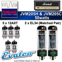 Tung-Sol Marshall JVM205H & JVM205C 50Watt Retube Kit