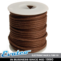 Brown Vintage Look Solid Core Cloth Covered Wire