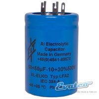 F&T 50+50uf  500v Dual Can Capacitor