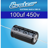 EVATCO 100uf 450v Axial Capacitors Twin pack