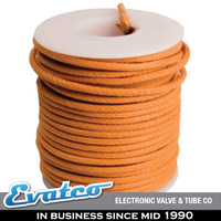 Orange Vintage Look Cloth Covered Wire Stranded