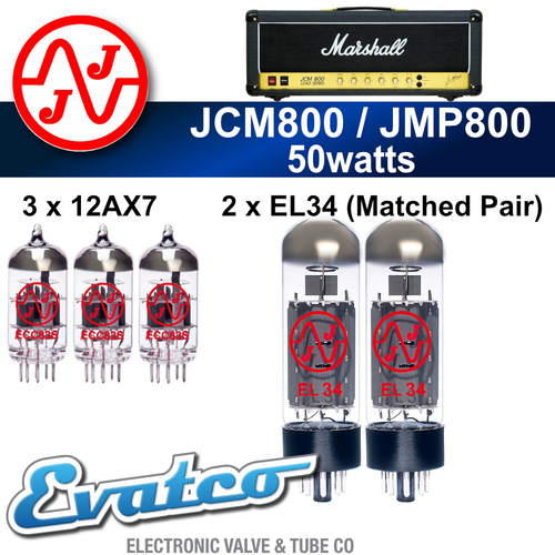 JJ Marshall JMP / JCM800 50Watt Retube Kit