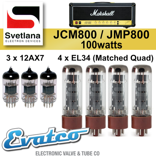 Svetlana Marshall JMP / JCM800 100Watt Retube Kit